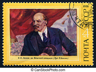 Vladimir Lenin - POLAND 1976 - portrait of Vladimir Lenin on...