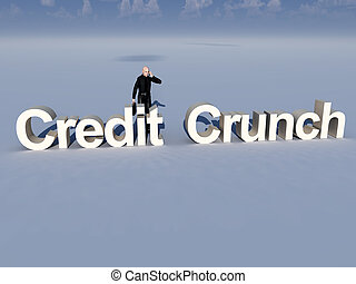 Businessman And Credit Crunch