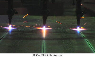 Metal cutting with gas welding