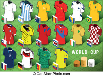 Isometric Uniforms Set of Soccer World Cup - Detailed...