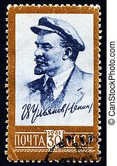 Vladimir Lenin - USRR 1961 - portrait of Vladimir Lenin on a...