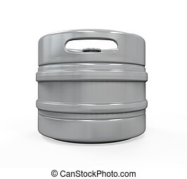 Metal Beer Keg isolated on white background 3D render