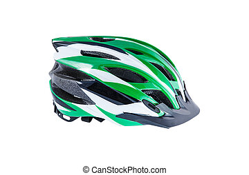 cycling helmet - cycling mtb helmet isolated on white...