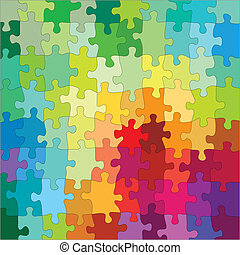 Jigsaw Color Puzzle, vector illustration