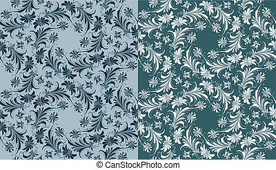 Seamless Wallpaper Background, Variations, editable vector...