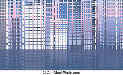 City abstract banner, vector