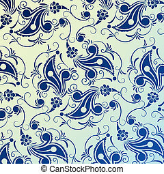 Floral Design - Floral Pattern With Abstract Flowers And...