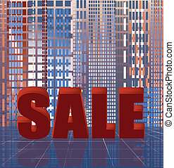 Abstract city sale background