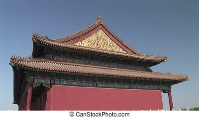 Detail of Chinese Architecture, Forbidden City - Zoom into...
