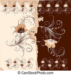 Floral Ornament Pattern, editable vector illustration