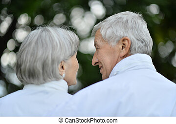 Happy senior couple - Portrait of a happy senior couple in...