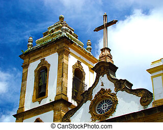 historical church of lord of bonfim in the city of salvador...