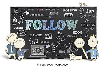 Follow with Social Media - Follow with Therms of Social...