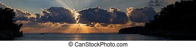 Parga Greece at sunset - The Ionian sea Parga Greece at...