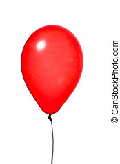 red balloon, isolated on white