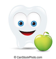 Toot Icon With Apple, Isolated On White Background