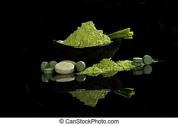 Nutritional supplements. - Spirulina, chlorella, wheatgrass,...