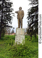 Lenin monument - Old statue of Lenin in a small Bulgarian...