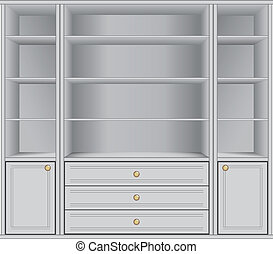 Storage Cabinet - White Storage Cabinet office and household...