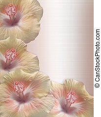 Wedding or Party Invitation Hibiscus - Image and...