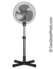 Pedestal Fan - 3D digital render of a pedestal fan isolated...