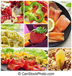 healthy eating collage - a collage of different healthy...