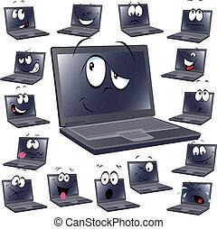 laptop cartoon