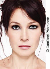 Middle-aged beauty - Close-up portrait of beautiful mature...