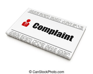Law concept: newspaper with Complaint and Business Man - Law...