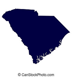 U.S. state of South Carolina - map of the U.S. state of...