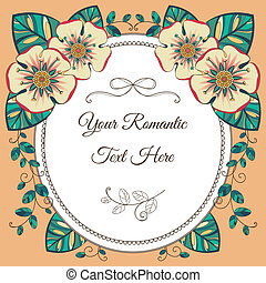 Vintage card with floral elements