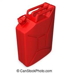 3d red jerry can - 3d red jerry can on white background