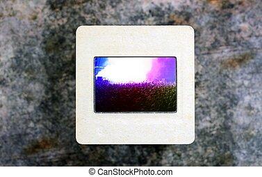 Live concert on slide film
