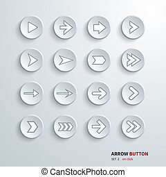 button arrow sign icon set. on clic