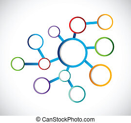 circle diagram illustration design over a white background
