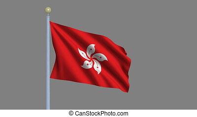 Flag of Hong Kong with alpha matte