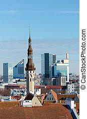 Beautiful view of old Tallinn city.