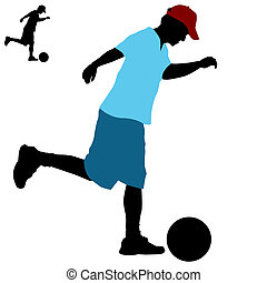 Man Kicking Ball