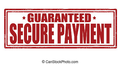 Secure payment - Stamp with text secure payment inside,...