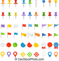 Navigation pins, flags and insignias collection