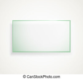 Square advertising glass board. Place your text