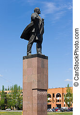 Lenin - Monument to Lenin in a city Volgsky, Russia