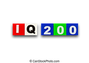 IQ 200 - Alphabet made of rubber clippings - colorful use...