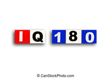 IQ 180 - Alphabet made of rubber clippings - colorful use...