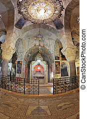 Before an altar burning candles - Jerusalem - September 3:...