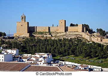 Castle fortress, Antequera, Spain. - Castle fortress with...