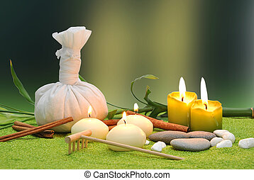 objects spa with candles