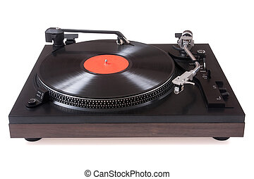 Analog turntable Isolated over white