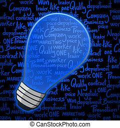 Blue buld business - Creative design of blue bulb business