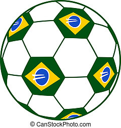Brazil ball - Creative design of brazil ball
